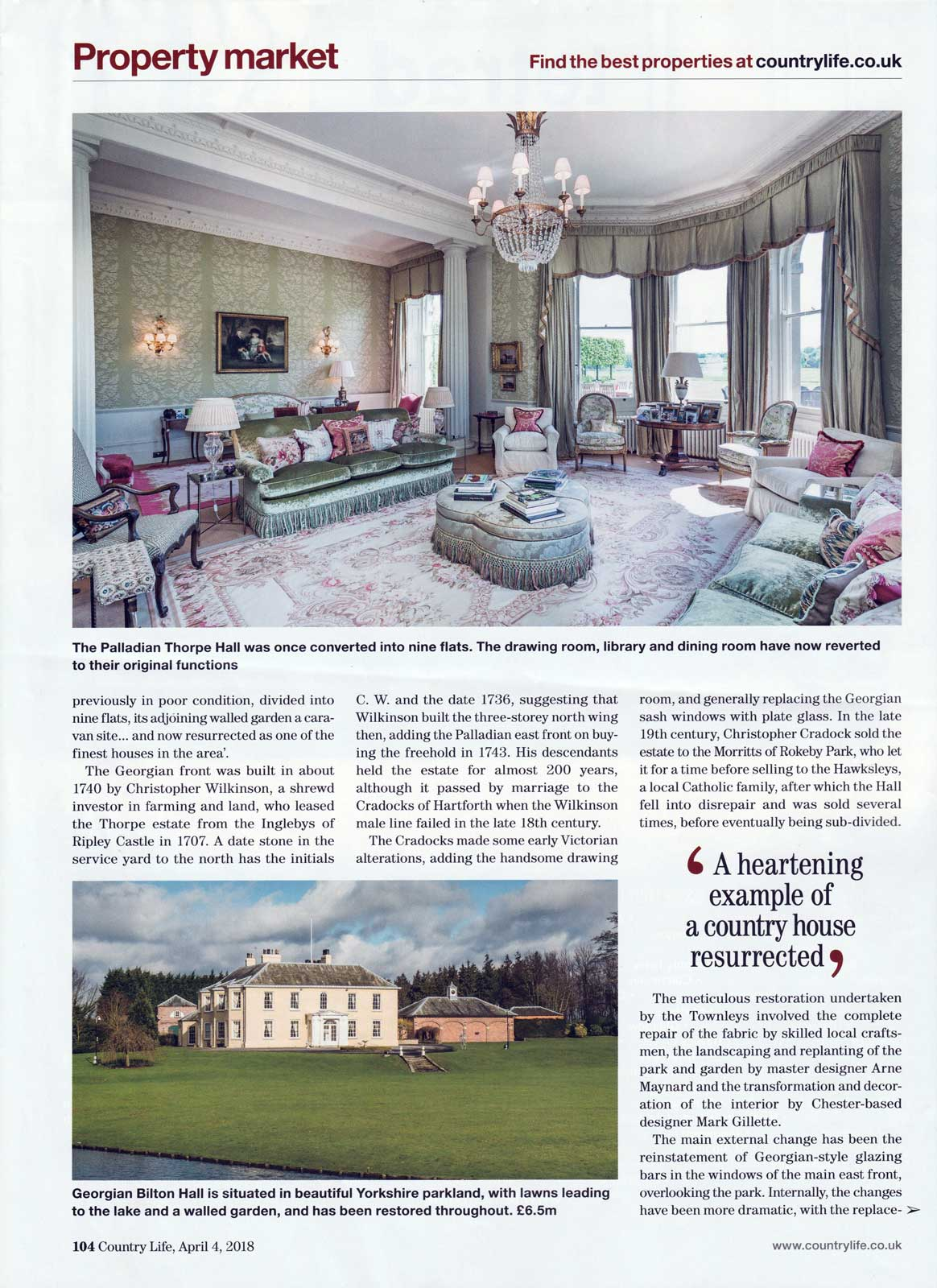 Mark Gillette - Country Life - Apr 2018